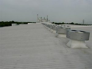 SPF roofing systems protect from hail damage