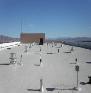 Flat roof repair with spray polyurethane foam